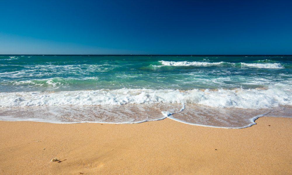 Waves on Shelly Beach at Caloundra, Sunshine Coast, Queensland,